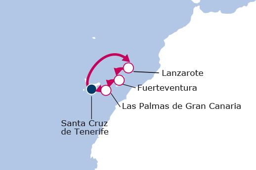 Itinerario de Minicrucero Canarias desde Tenerife