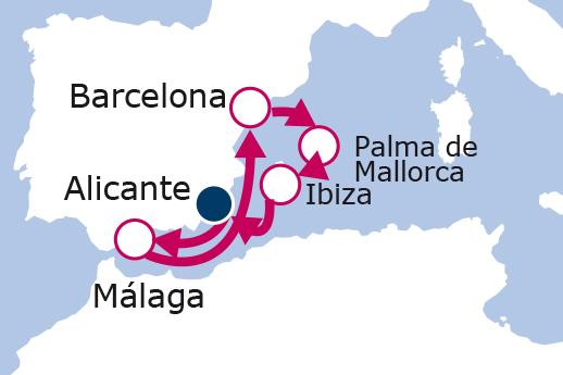 Itinerario de Crucero Temático Festival Waterland