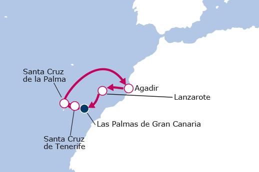 Itinerario de Canarias Especial Carnaval desde Las Palmas