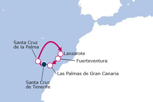 Itinerario de Canarias Especial Carnaval desde Tenerife