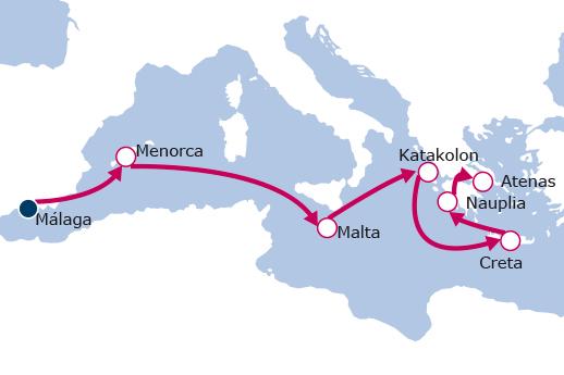 Itinerario de Del Mediterráneo al Mar Egeo Mayores de 55