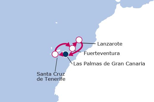 Itinerario de Especial Reyes desde Las Palmas Con Vuelos