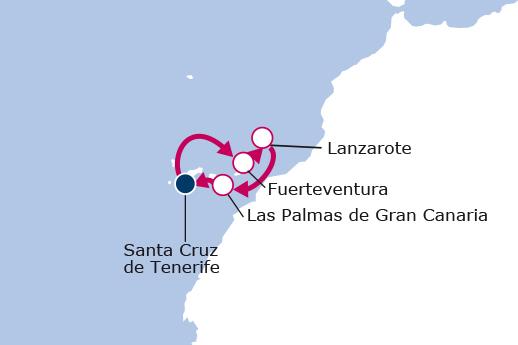 Itinerario de Especial Reyes desde Tenerife Con Vuelos