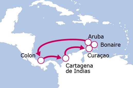 Itinerario de Antillas y Caribe Sur Especial Salidas Agosto