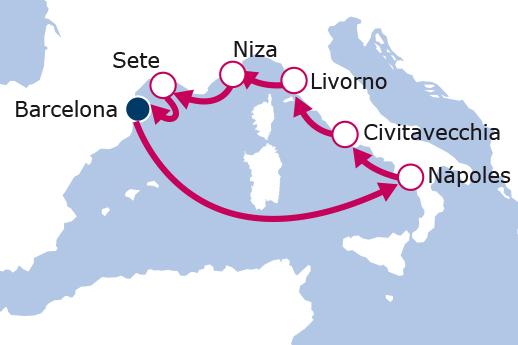 Itinerario de 5 Maravillas del Mediterráneo Mayores de 55