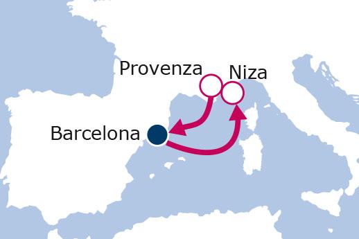 Itinerario de Costa Azul