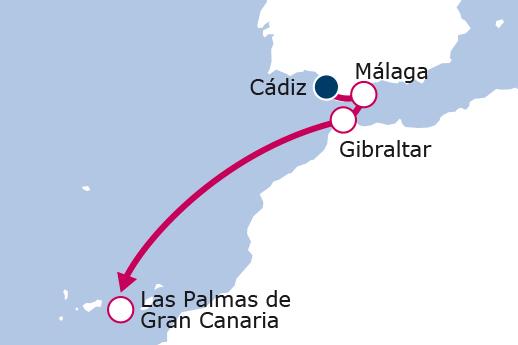 Itinerario de Andalucía y Canarias