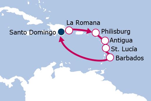 Itinerario de Islas del Caribe