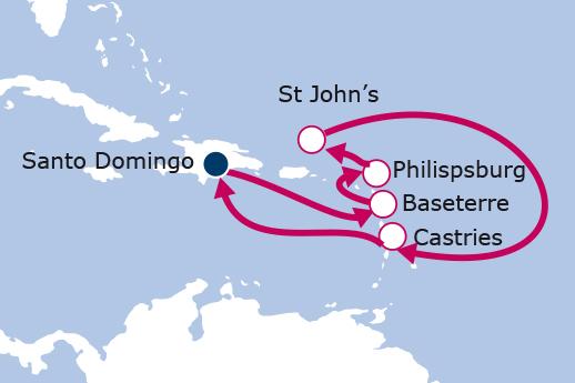 Itinerario de Islas del Caribe II