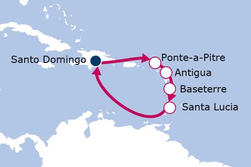 Itinerario de Islas del Caribe Mayores de 55