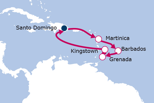 Itinerario de Islas del Caribe y Barbados