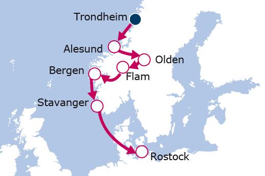 Itinerario de Fiordos del Norte II