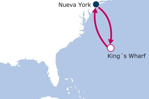 Itinerario de Bermudas desde Nueva York