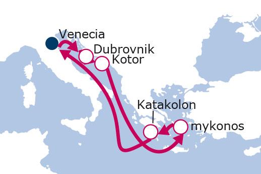 Itinerario de Italia, Croacia, Montenegro, Grecia con Vuelos