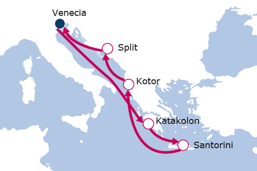 Itinerario de Recorriendo el pasado II con vuelos