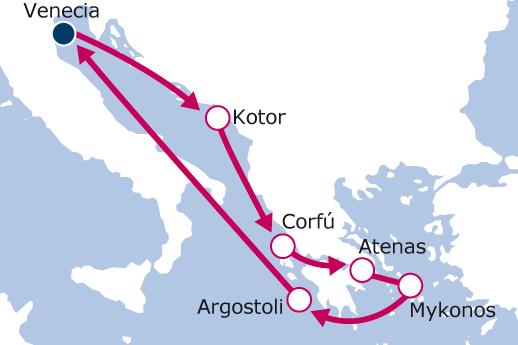 Itinerario de Italia, Montenegro, Grecia con Vuelos