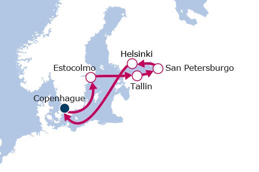 Itinerario de Capitales Bálticas con vuelos