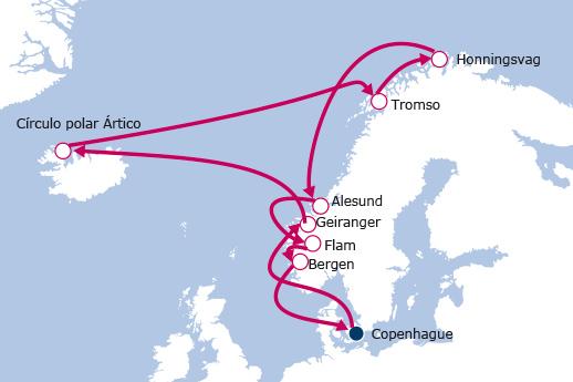 Itinerario de Fiordos Noruegos III con vuelos