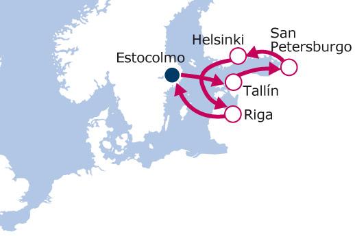 Itinerario de Capitales Bálticas IV con vuelos