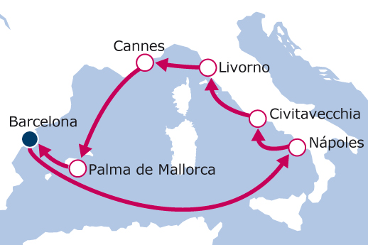 Itinerario de Mediterráneo Occidental 2019